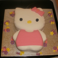 Hello Kitty Cake made this for my daughter, was very pleased with it