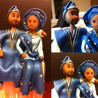 African Tribal Topper Topper made for couple in traditional African Tribal Attire