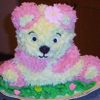 Wilton Teddy Bear Cake   I went with pink instead of black due to special request from my step-daughter who loves pink!