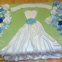 Bridal Shower Cake Marble cake with vanilla buttercream. The banner on top will have a wedding verse, waiting on notification from the bride's friend. I...