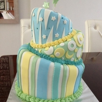 Topsy Turvy Cake Son's 16th b'day cake. First time doing topsy turvy.
