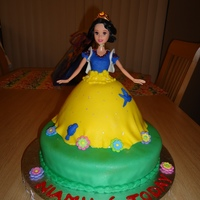 Snow White Cake I made this cake for my friends daughter who loves snow white