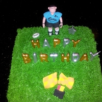 Rugby Referree Birthday Cake for Rugby Ref
