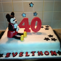Mickey 40Th Birthday Cake