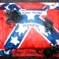Sasa's Cakery Rebel flag cake, all edible