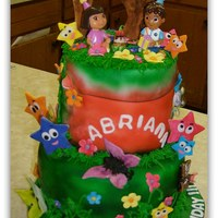 Sasa's Cakery Dora Birthday Cake , all edible except for Dora & Diego