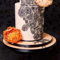 Peach Double Barrel With Sugar Peonies And Handpiped Royal Icing Lace I Had A Hard Time Deciding Which Composition I Liked The Best What D... Peach double barrel with sugar peonies and handpiped Royal Icing lace. I had a hard time deciding which composition I liked the best, what...