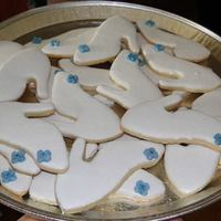 Bridal Shower Cinderella Shoe Cookies *