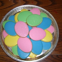 "3"" Easter Egg Cookies Covered with a glaze."
