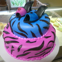 Zebra Stripe this was a cke for twins one likes pink and the other blue