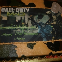 Mw3 MW3, camouflage butter cream, marble cake, toy army men, gum paste tags....