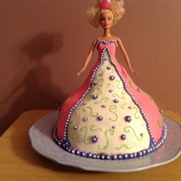 Barbie Cake Pink, purple barbie, doll