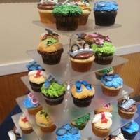 Sports Theme Rehearsal Dinner Cupcakesgolf Clubs Water Goggles Bicycle Basketball Hoop With Whistle Sneakers And Flip Flops And A Dip Sports theme rehearsal dinner cupcakes...golf clubs, water goggles, bicycle, basketball hoop with whistle, sneakers and flip flops and a...