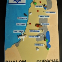 Israel Map Cake I just got back from Israel tour 2 weeks ago. I made this for our Isreal group reunion dinner. On the Map are some of the places that we...