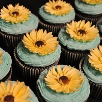 Yellow Daisies Made for a baby shower
