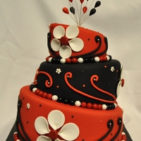 My Very First Topsy Tuvy Cake I made this cake to celebrate my 1 year in cake decorating. This design is inspired by Tonedna. Thanks!