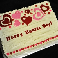 Happy Hearts Cake Red Velvet cake with cream cheese frosting