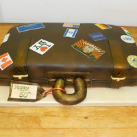 "Suitcase Cake Made For The 50Th Birthday Of A World Traveler Vanilla Cake Airbrushed Fondant Edible Travel Stamps From All The Places Suitcase cake! Made for the 50th birthday of a world traveler. Vanilla cake, airbrushed fondant, edible ""travel stamps"" from all..."