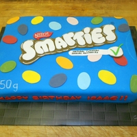 Smarties Box Cake I made this for my godson's 3rd birthday - he LOVES smarties. Inside is chocolate cake with a layer of chocolate buttercream and...