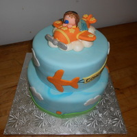 Airplane Themed Baby Shower Cake Airplane themed Baby shower Cake