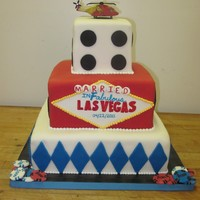 Vegas Wedding! My friend recently got married (in a helicopter?!) in Vegas; this is her reception cake to commemorate the day and for those who could not...