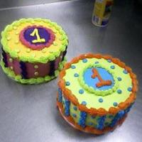 Bright Birthday Cakes One thing i really like to do is make brightly colored almost psychadelic looking cakes lol.