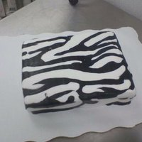 Buttercream Zebra Print Cake  I've only had experience with buttercream. I had never done anything like this and was really happy with how it turned out. I was just...