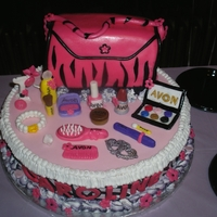Zebra Print Birthday Cake 14 inch marble cake with vanilla icing covered w/fondant, purse was 1/2 vanilla 1/2 chocolate w/ vanilla filling and covered w/fondant all...