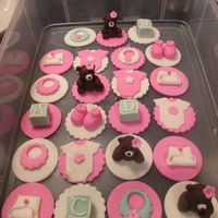 Fondant Baby Shower Cupcake Toppers Fondant Baby Shower Cupcake Toppers