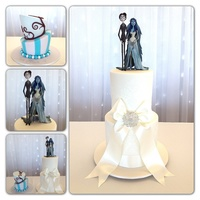 Corpse Bride Wedding Cake Tim Burton's Corpse Bride wedding cake and topsy turvy grooms cake