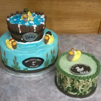 Duck Commander Cake Ducky Commander first birthday cake set... All edible