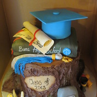 This Was A Graduation Cake For 3 Boys Interested In The Great Outdoors Welding Fishing And Sports Ill Try To Post Pictures Around The This was a graduation cake for 3 boys interested in the great outdoors, welding, fishing and sports... I'll try to post pictures...