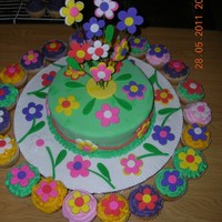 Nadia's Birthday Cake My niece turned 8 and wanted a Flower cake. She loved this one