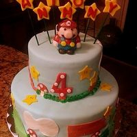 Fondant Cake With Gumpaste Mario For A Sweet 4 Year Old All Items On Cake Are Edible Made From Either Fondant Or Gumpaste Tfl   Fondant cake with gumpaste Mario for a sweet 4 year old. All items on cake are edible made from either fondant or gumpaste. TFL