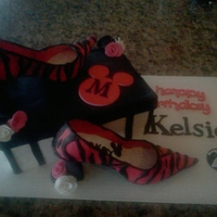 Pair Of Shoes And Shoe Box Cake