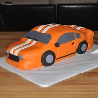 Majestic Car Cake Almond sourcream cake decorated with fondant.