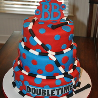 Bouncing Bulldogs Doubletime Cake This cake was for the jump rope team, the Bouncing Bulldogs (BB) in Chapel Hill, NC. It was vanilla with vanilla buttercream and covered in...
