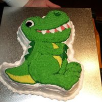 Dinosaur Cake Made this cake using Wilton Dino pan, my 1st ever decorated cake, this is what started me off! :)