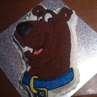 Scooby Doo Cake Made this using Wilton's Scooby Doo Pan. This was for my daughters 4th Birthday :)