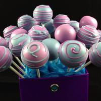 Purple And Blue Birthday Cake Pops *