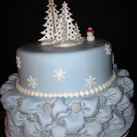 Pme - Fondant Class - Final Cake   Blue Wonderland