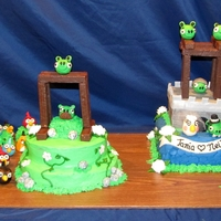 Angry Birds Playable Grooms Cake