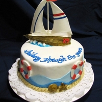 Sailboat Birthday Cake This was for a woman who was turning 89 years old. Boat is all gumpaste.