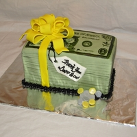 Stack Of Money Cake A thank you for our accountant!
