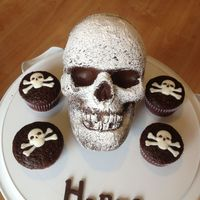 3D Skull Cake Wilton Method 3D Skull cake Wilton method