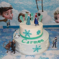 Frozen Theme Birthday Cake   For my niece who turning 4