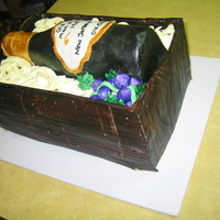 Birthday Wine And Crate Cake I was asked to make this cake for a family member. Never did anything like it at all, but I used a lot of techniques I was able to locate...