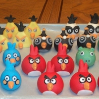 Angry Birds Angry Birds Cupcake Toppers made for my nephew's birthday