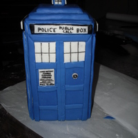 The Tardis   the Tardis from Dr. Who. crashed into a planet my niece designed.