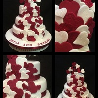 Heartilicious Cake <3 This was my first wedding style cake, although it was for 2 little girls christening. x